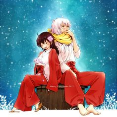 InuYasha and Kagome~Winter Scarf