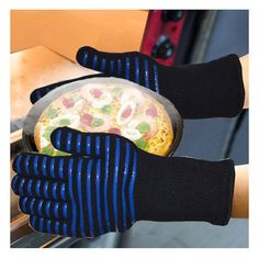 Heat Resistant Multi-Purpose Gloves – Outdoorsy Kitchen Gloves, Cool Gadgets, Amazing Gadgets, Heat Resistant Gloves, Freezer Burn, Cotton Gloves, Fingers Design, Oven Glove, Food Out