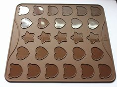 Longzang 27Cavity Cartoon Macaroons Mat Baking Mold -- Want additional info? Click on the image.