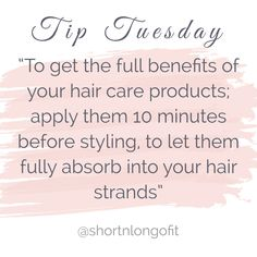 🌀TIP TUESDAY🌀 Apply products 10 minutes before styling.💁🏻♀️ Straightening your hair; apply Blow Out Cream, comb through hair and then blow dry.🙆🏽♀️ Going curly; apply Curl Cream, comb through hair and then scrunch on medium heat. Hairdresser Quotes, Hairstylist Quotes, Hair Salon Quotes, Hair Quotes, Body Shop At Home, The Body Shop, Hair Stylist Tips, Hair Meme, Hair Facts