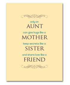 Mother's Day Printable for Aunts