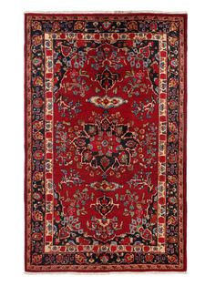 "Persian Hand-Knotted Rug (4'10""x7'7"") on Gilt"