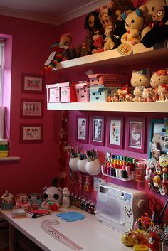 sewing room by laced.candy, via Flickr