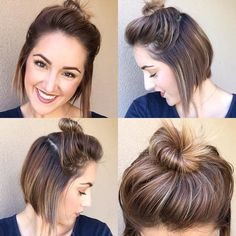 No filters! Just in need of a cut & color! But look at that top knot! , it has some cuteness to it finally!!!! #topknot #pixietopknot #pixiegrowout #pob #pixiebob #ineedacutandcolor @pixiechatpix @pixie_inspirations @chica_pixie @hashtagpixiecuts @nothingbutpixies
