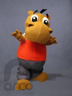 Botargas de Animales Salvajes. Hipopótamo Infantil  ¡Conoce más botargas de animales salvajes aquí! http://www.grupoarco.com.mx/venta-de-botargas/botargas-de-animales-en-mexico/