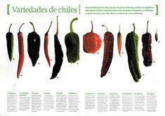 diferentes chiles -