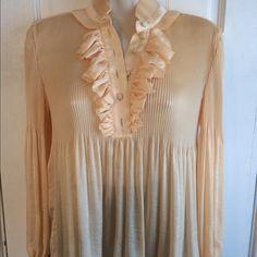 Diane von Furstenberg pale melon blouse size 2 Great condition. 100% polyester. Diane von Furstenberg Tops Blouses