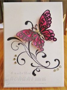 Handmade Female Butterfly Card ... Stampin' Up! - Everything Eleanor ... Frantic Stamper - Monarch Butterfly Die ... EnchantINK