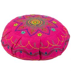 Barefoot Yoga Mandala Embroidered Zafu Yoga Meditation Cushion. Great meditation cushion, it is high quality and affordable.