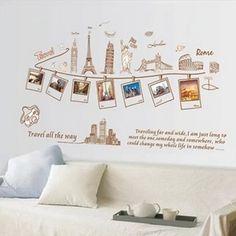 Home & Kitchen Best Room Removable Quote Vinyl Rome Paris New York Pisa Travel Trip Deco Decal Stickers
