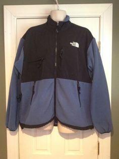 The-North-Face-Blue-Black-Jacket-Coat-Fleece-Nylon-Mens-Size-XXL-2XL