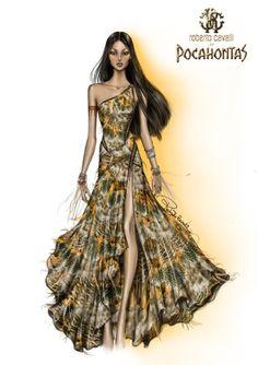 Pocahontas dress by Roberto Cavalli