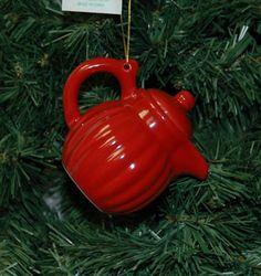 Ceramic Tea Pot, Teapot Christmas Ornament
