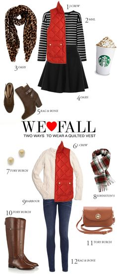 We Love Fall: Two Ways To Wear A Quilted Vest