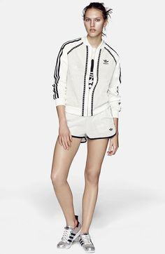 Topshop for adidas Originals 'Superstar' Leather Track Jacket available at #Nordstrom