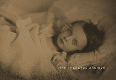 Young Girl on Death Bed  A poignant last photo of a young girl. The photo is a c. 1850 daguerreotype