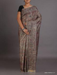 Sumitra Dew Drop Top To Toe Intricate #MadhubaniSilkSaree