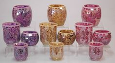 Candle Wax, Soy Wax Candles, Mosaic, Candle Holders, Mosaics, Porta Velas, Mosaic Art, Candlesticks, Candle Stand