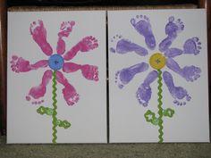 Baby Footprints Flowers