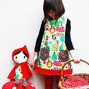 Girls Dress Red Riding Hood Fairytale Print