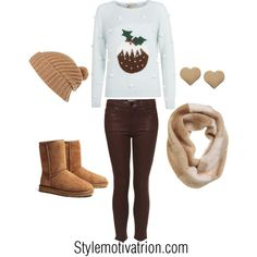 Here you can find some ideas how to make perfect combinations for Christmas holiday. We offer you 20 great combinations that look stylish, modern and that Lazy Outfits, Teenage Girl Outfits, Family Outfits, Cute Outfits, Cold Weather Outfits, Winter Outfits, Winter Clothes, Cute Christmas Outfits, Christmas Holiday