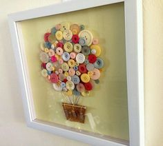 Button art. Make letters or maps. Glue or sew.