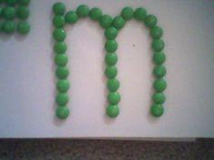 m & ms letter M