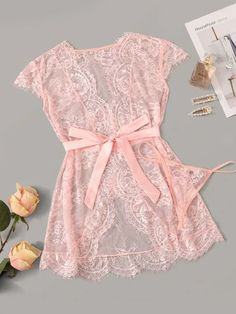 To find out about the Eyelash Floral Lace Belted Robe With Thong at SHEIN, part of our latest Sexy Lingerie ready to shop online today! Lingerie Outfits, Lingerie Sleepwear, Lingerie Set, Lingerie Underwear, Sleepwear & Loungewear, Lingerie Dress, Luxury Lingerie, Pretty Lingerie, Beautiful Lingerie