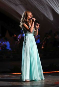 "Jackie Evancho - child prodigy opera soprano. At age 10, released her first album and gained broad exposure on ""America's Got Talent."""