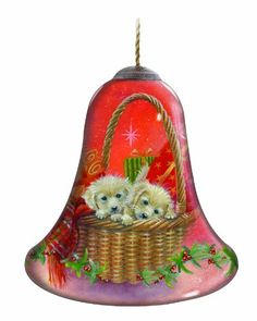 Ne'Qwa Puppies for Christmas Ornament * Read more reviews of the product by visiting the link on the image. (This is an affiliate link) #Ornaments