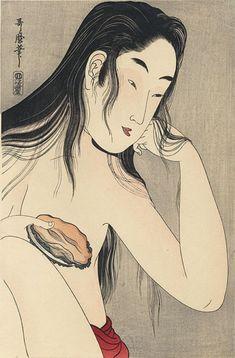 Portrait of an Ama by Utamaro (ca. 1800)