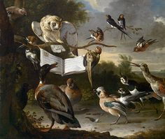 The Concert Of Birds Painting by Melchior d'Hondecoeter