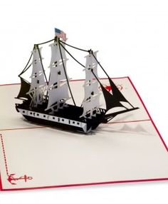 Pop. Surprise. Delight. LovePop's USS Constitution paper pop up card. #nautical #sailling #oldironsides