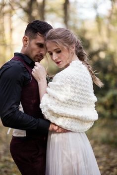 Ivory Crochet Shawl Bridal Shrug Romantic Wedding Stole for Bride Boho Wedding, Fall Wedding, Dream Wedding, Rustic Wedding, Winter Wedding Shawl, Bridal Bolero, Wedding Bolero, Photo Couple, Brides And Bridesmaids