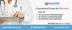 Customized loan for Doctors! Loan starting from 14.50%* For more details visit - http://buff.ly/28Xzu8h #Ruloans #BorrowRight