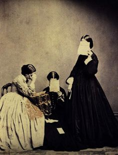 Victorian mourning. An interesting photo no less.