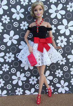 Die 1269 Besten Bilder Von Barbie Doll Dresses Crochet Barbie