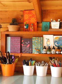 Craft room inspiration- image only geninn, decor, craft space, craft room inspiration, color, my room ideas, craftworkspac idea, art rooms, craft rooms
