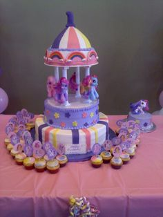 My Little Pony Carousel on Cake Central