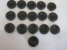 16 Stück Jackenknöpfe,Dunkel Rot fast schwarz,Durchmesser ca.22 mm,Neu,Lübecker Knopfmanufaktur von Knopfshop auf Etsy