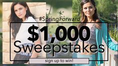 Play the #springforward instant win #sweepstakes game to win 1 of 25 Appleletics E-gift Cards. End Date: 05/05/2016, Contest Eligibility:US