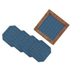 Vy La Blue Hex Coaster Set #blue #geometric #classic #home #decor #coaster #styling