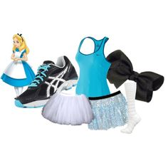 Alice in Wonderland - Polyvore - definitely my Disney 1/2 or full marathon outfit down the road