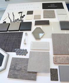 Modern design board. Simons Design Studio #ModernHomeDecorInteriorDesign