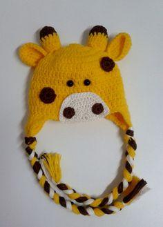 Touca em croche, Girafinha para ensaio fotografico.