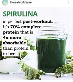 Microalgae based protein products are used to sustain NASA astronauts, they're no joke. Not only is spirulina one of the richest sources of protein/amino acids, it is also very high in Iodine which supports thyroid functon to aid in weight loss and...