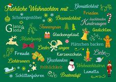 Alles was an Weihnachten dazugehört | Frohe Weihnachten | Echte Postkarten…