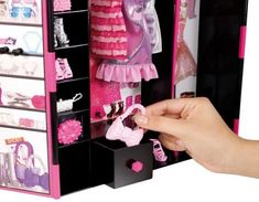 Barbie Fashionistas Ultimate Closet is just as iconic as her shoes and the Dreamhouse. Barbie Organization, Doll Closet, Cabinets For Sale, Barbie Fashionista, New Year Gifts, Christmas And New Year, American Girl, Dolls, Barbie Stuff