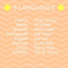 How to say it's hot in 8 languages