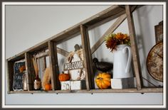 ladder shelf That Country Place: Fall Back.last of the Fall decor pictures Country Decor, Decor, Fall Halloween Crafts, Fall Decor, Decorating Your Home, Wooden Ladder Decor, Repurposed Decor, Repurposed Ladders, Home Decor